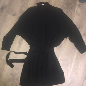Gap black turtleneck sweater dress size Large NWT